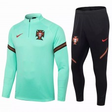 Portugal Team Green Tech Training Soccer Tracksuit 2020 2021